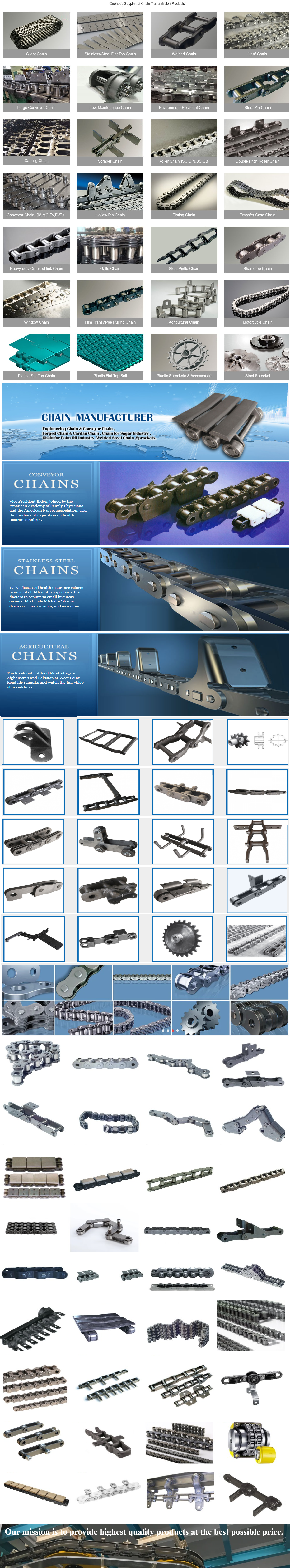 Widely  made in China - replacement parts - leaf chain types  in Yerevan Armenia  Used Rubber Added Industrial Conveyor Belt Chain  with ce certificate top quality low price
