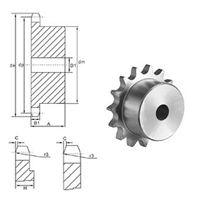 Steel  supplier  China Durable Standard  Finished Bore Sprockets 25BS chain sprockets for Manufacturing from China