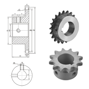 American  supplier  China Standard sprocket Stock Bore 50BS chain sprocket specification standard chain sprocket
