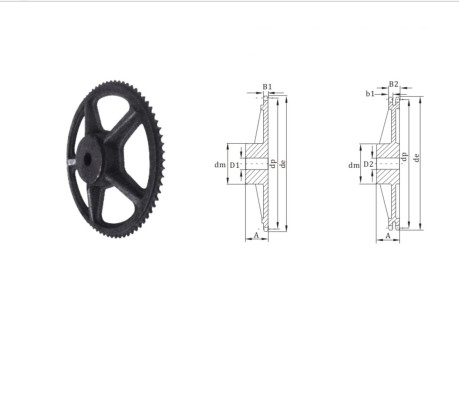European  Custom  China Standard mass production cast iron sprocket 24 chain sprocket export to Europe