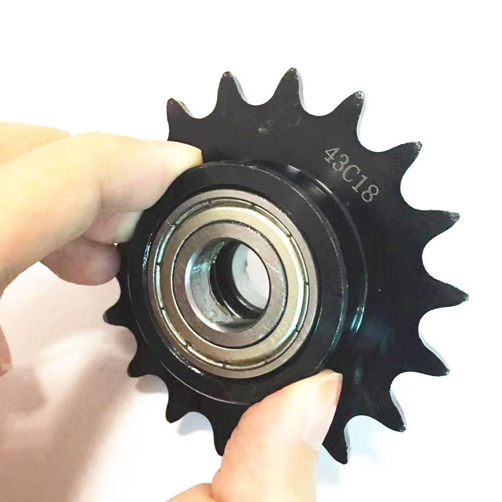 Industrial  Lowest price Idler sprocket 43C18 Sprocket with R10ZZ bearing