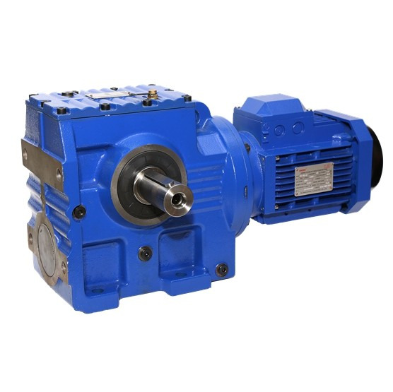 China manufacturer & factory supplier for S  in Valledupar Colombia  Series 90 degree Helical-Worm gearbox transmission Flange Mounted Bevel Drive Motor Gearbox Speed Reducer With high quality best price & service