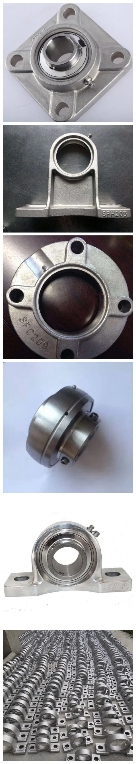 china supplier White Plastic Housings p210 f210 Stainless Steel Pillow Block Bearings