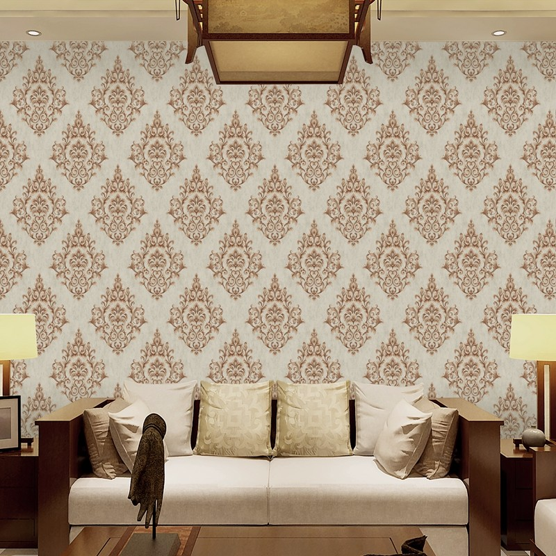 low price wallpaper pvc vinyl coated washable decorative flower living room wallpaper