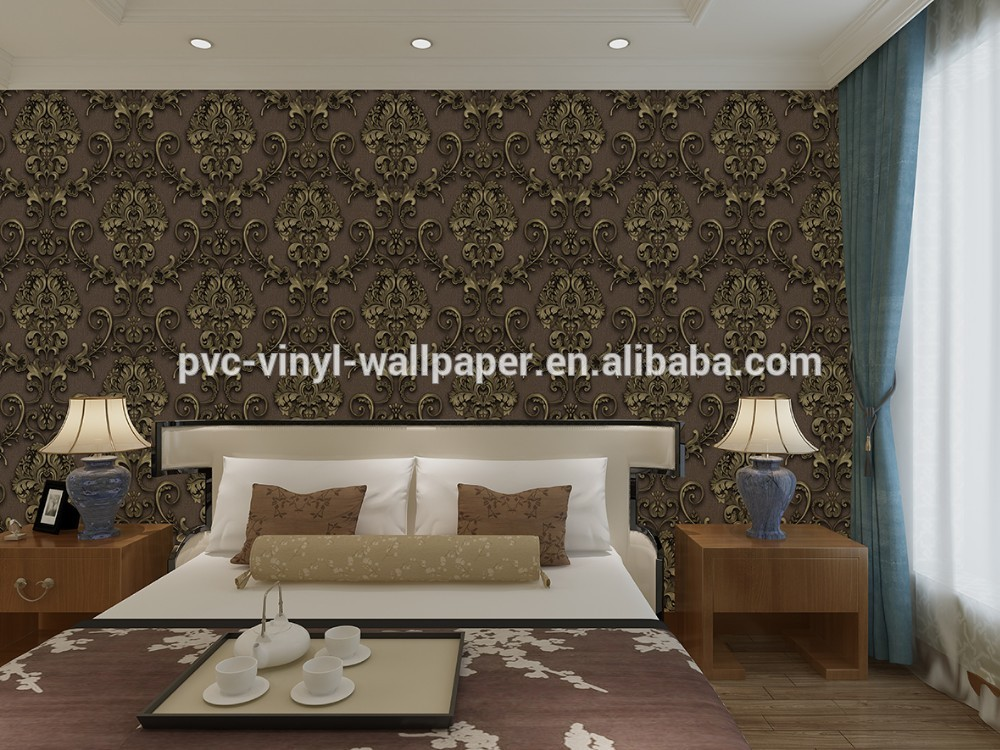 Factory manufacturer newest type special pvc vinyl wallpaper