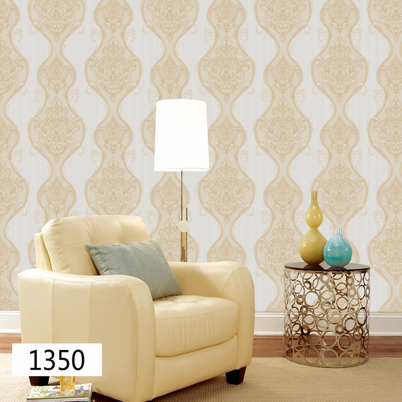 luxury damask pvc vinyl decorative waterproof wallpaper designs for home room decoration