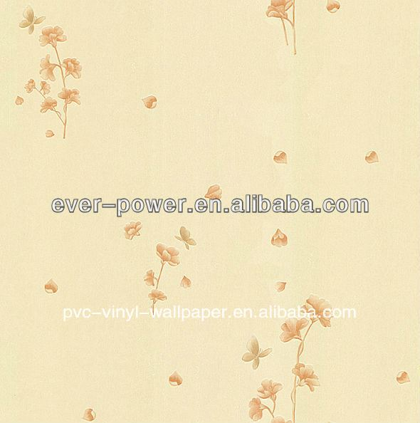 six colors modern flower wallpaper/wallcovering paper peint vinyl