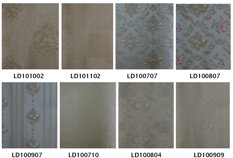 Classic design wallpapers type pvc vinyl wallcovering
