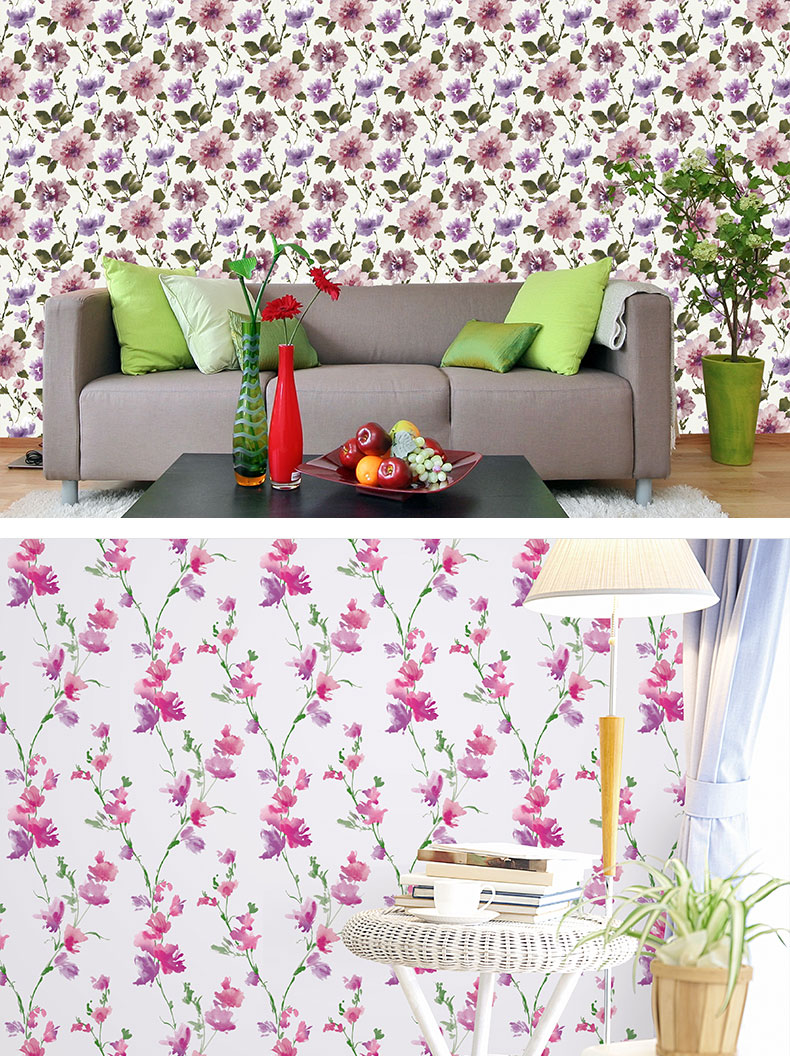 Italian design vinyl flower tale wallpaper/bedroom decoration wallpaper funny cartoon wallcovering korea 3d tapet