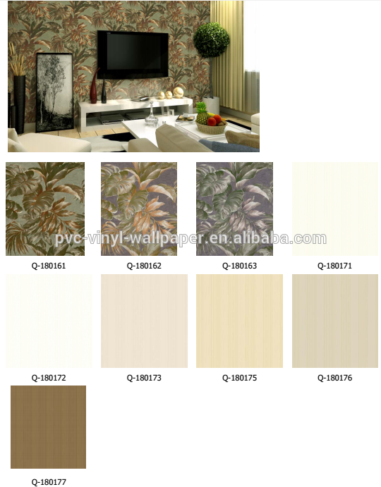Designer wallpaper nature new style pvc vinyl wallcovering