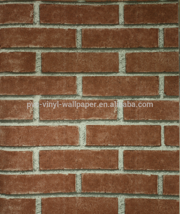 Simple style brick type pvc vinyl wall paper