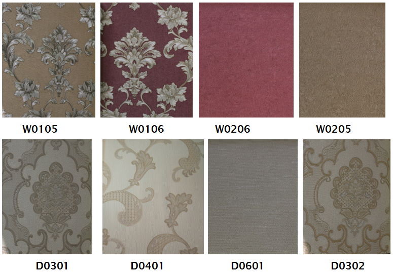classic simplicity pvc vinyl wall paper for homes decoration