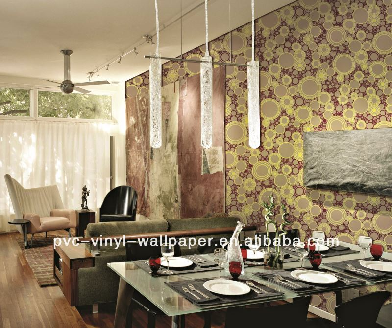modern style vinyl peelable and stickiness decorative wallcovering wallpaper tapet design