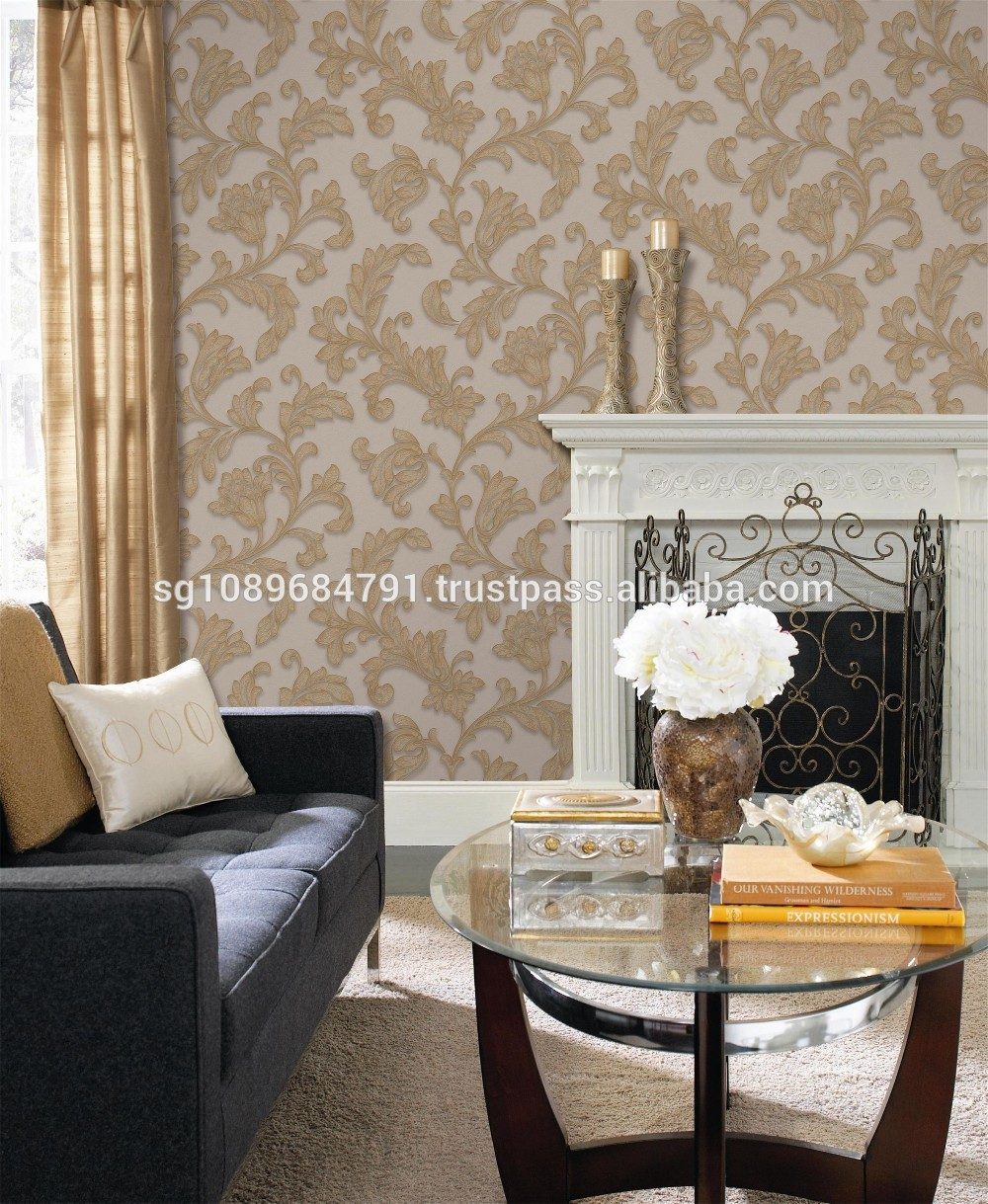 Wholesale 3d vinyl wallpaper for decoration home wallpaper