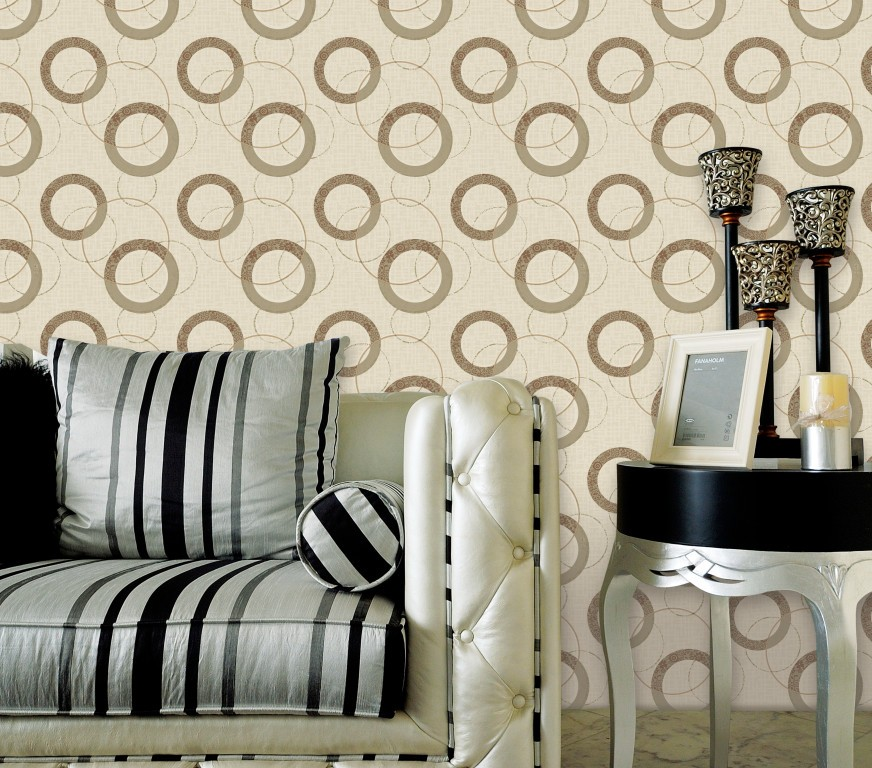 the lastest PVC circles wallpapeer