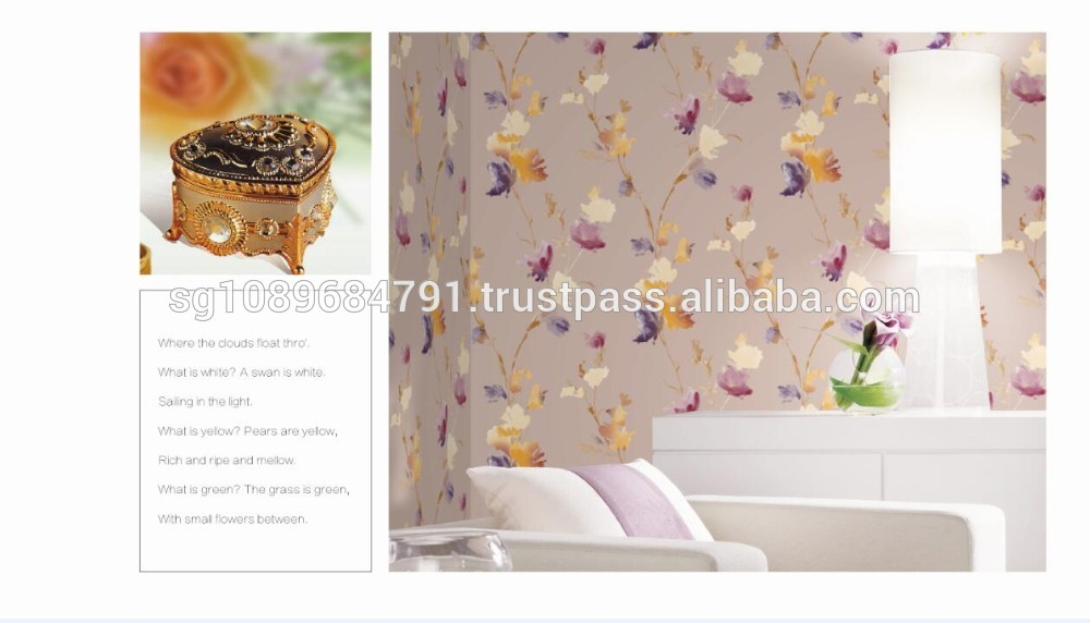 Large paper flower backdrop vinyl wallcovering