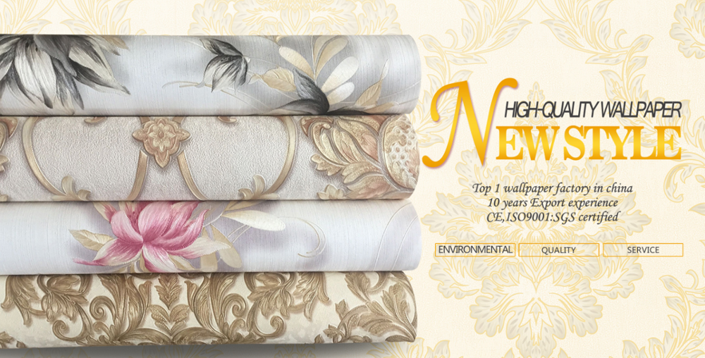 New Wallpaper Products pvc/vinyl wallpaper catalogues Damask Materials and Technics