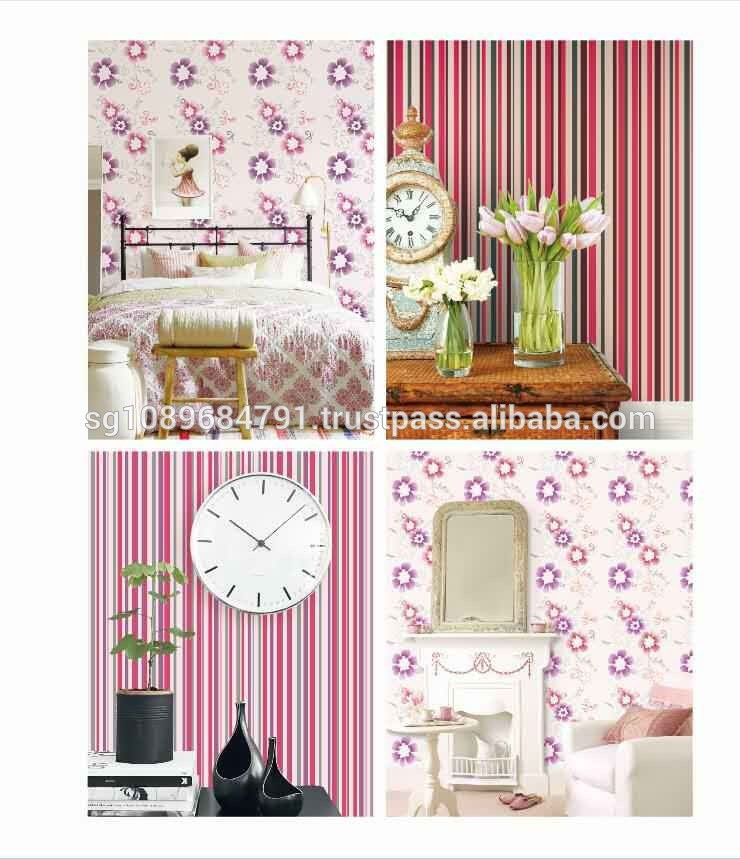 plain design home decoration vinyl wallcovering