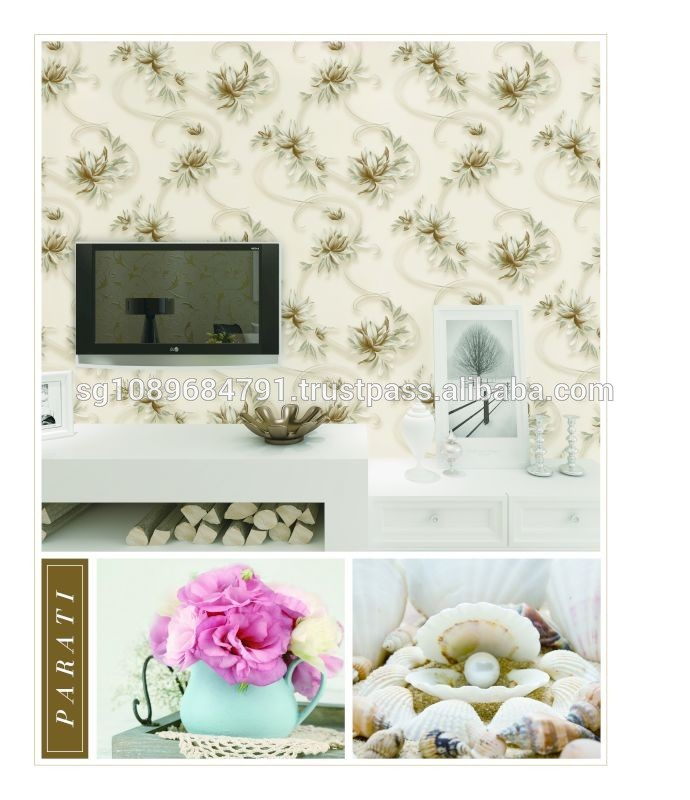 Wholesale vinyl wall covering for decoration interiores