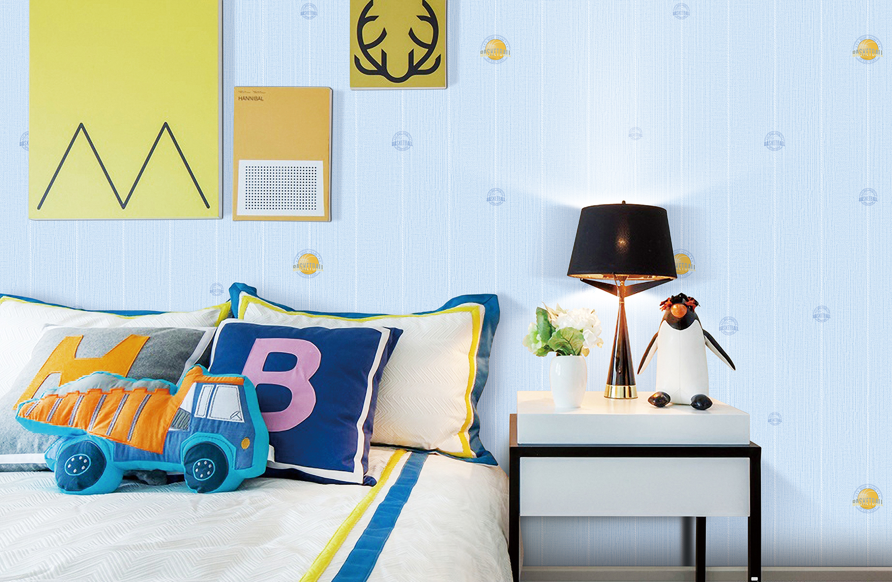 decoration wallpaper for kids room interior
