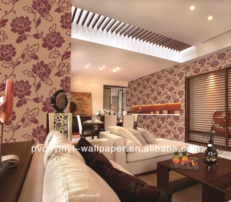 contract project pvc vinyl wallpaper/room decoration wallpaper wall cover panel nya tapeter