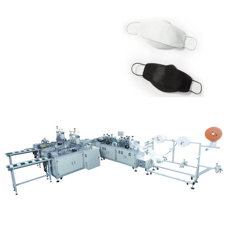 Face Making economic automatic mask machine Shrink Tube/Webbing/Face Earloop Cutter Cutting  for higher speed mast production