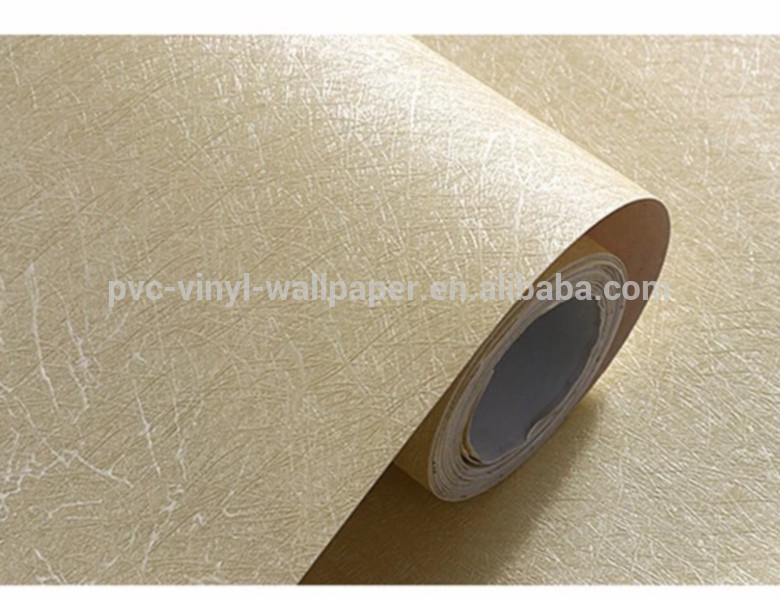 simple pattern silk waterproof pvc vinyl wallpaper for home room decoration