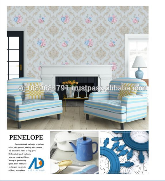 Wholesale Living room 3d vinyl wallpaper for decoration home