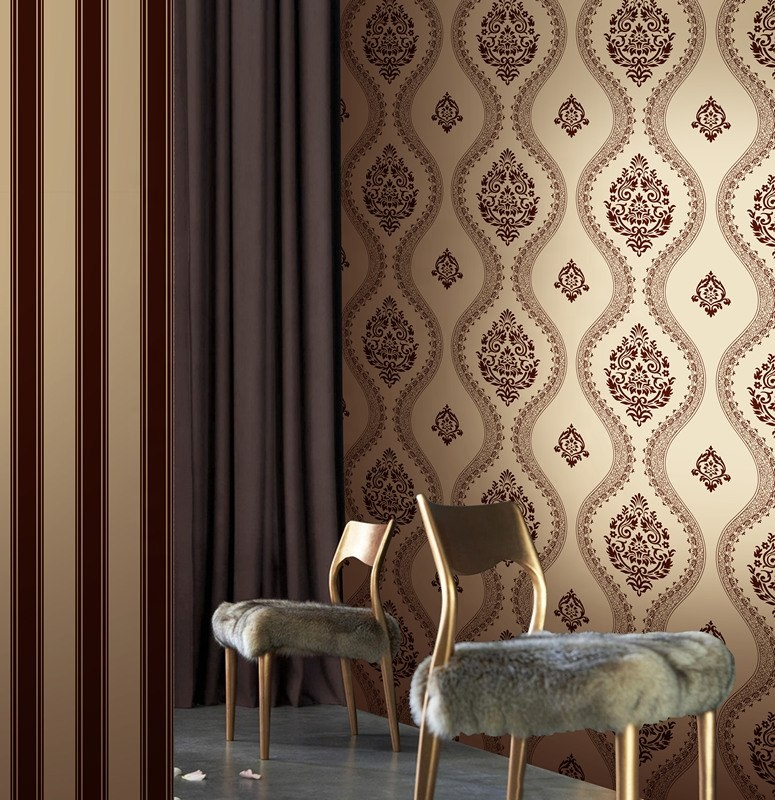hot selling home decoration flocking wallpaper